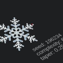 Descargar archivos STL gratis Copo de nieve fácil de personalizar, crashdebug