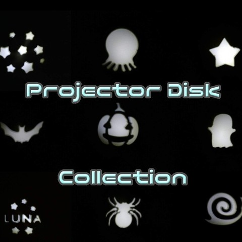 Free 3D printer designs Projector disk collection, crashdebug