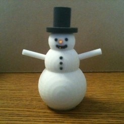 Download free 3D printer templates Snowman, Loustic3D888