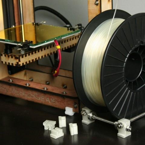 Download free 3D printer designs Mosaic Feet & Spool Holder, FunnyJohnnyPrinter