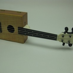 Free 3D print files cigar box ukulele, FunnyJohnnyPrinter