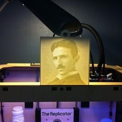 Download free 3D printing designs Tesla Lithopane, ErnyCrazyPrinter