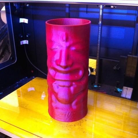 tiki_display_large.jpg Download free STL file Tiki Cup • Design to 3D print, ErnyCrazyPrinter