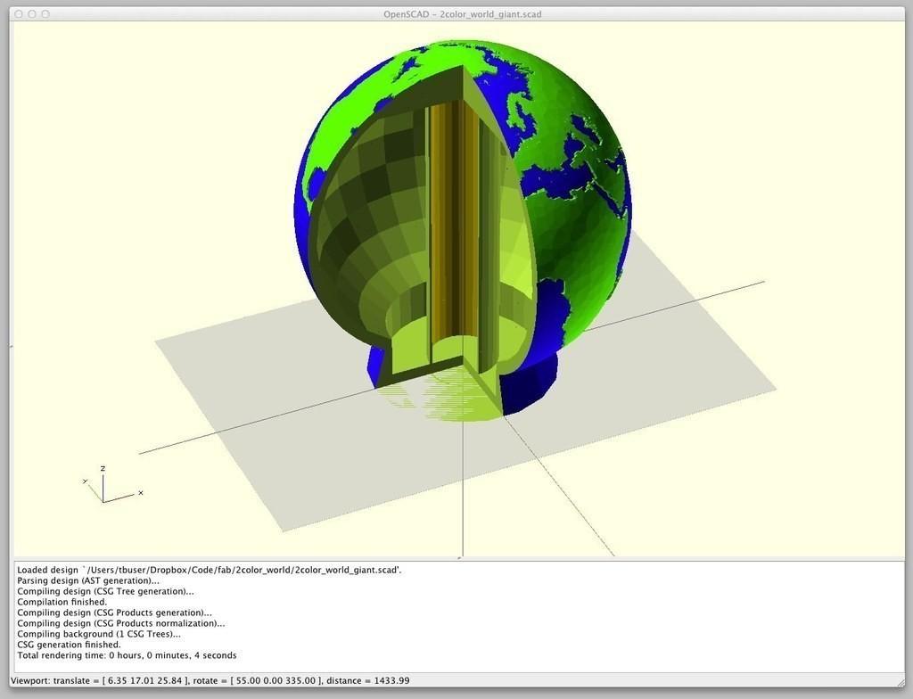 2color_world_giant_support_display_large_display_large.jpg Télécharger fichier STL gratuit Monde géant creux à deux couleurs • Plan à imprimer en 3D, ErnyCrazyPrinter