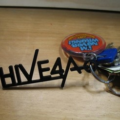 Download free STL files Hive 4A Keychain, ErnyCrazyPrinter