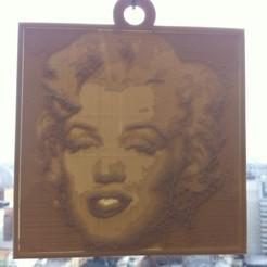 Free 3D printer designs Andy Warhol's Monroe Lithopane, ErnyCrazyPrinter