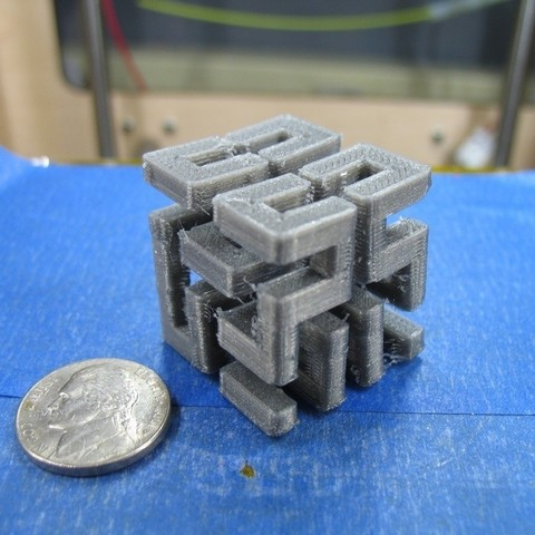 Download free 3D printer designs Hilbert Cube, ErnyCrazyPrinter