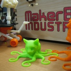 Free 3D printer designs Octocat V1.5, ErnyCrazyPrinter