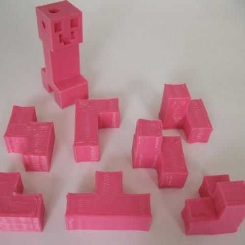 Télécharger fichier STL gratuit Casse-tête de blocs de 7 pièces - Style Minecraft, Jimmydelgadinho45