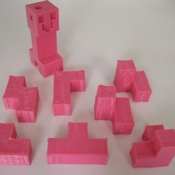 Download free 3D printing models 7-Piece Block Puzzle - Minecraft Style, Jimmydelgadinho45