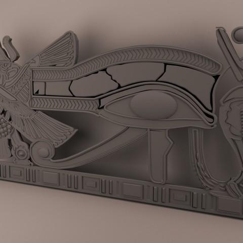 Download 3D printer templates  Ancient Egypt -Eye Of Horus, baselrafat