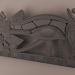 STL file  Ancient Egypt -Eye Of Horus, baselrafat
