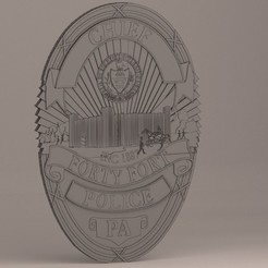 Download 3D printing templates Forty Fort Police Badge, baselrafat