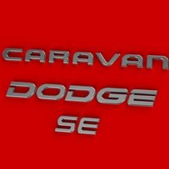 Archivos 3D Dodge Caravan SE logo etiquetas automáticas, dnpro
