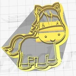 foto caballo zenon.jpg Télécharger fichier STL Cheval percheron Zenon Cookie Cutter Farm • Plan imprimable en 3D, martinchogimenez