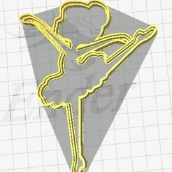 foto bailarina.jpg Download STL file Dancer in a tutu. Cookie Cutter • 3D printer design, martinchogimenez
