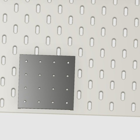 Download free 3D printing files Standard Pegboard to Ikea Skadis adapter board, 3DED