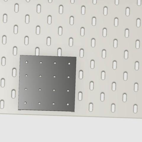 Télécharger fichier STL gratuit Carte d'adaptation standard Pegboard to Ikea Skadis, 3DED