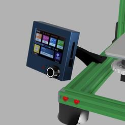 Download free 3D printer templates Slim and Elegant BTT TFT35 E3 V3 dual mode touch screen Extrusion Mount, 3DED