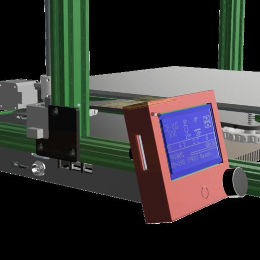 Télécharger fichier 3D gratuit Afficheur LCD RepRap 12864 compact et élégant pour montage par extrusion, 3DED