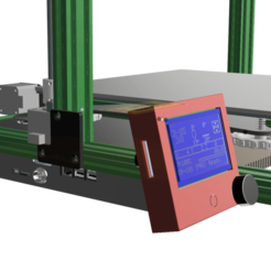 Download free 3D printing models Slim and Elegant RepRap 12864 LCD Display Extrusion Mount, 3DED