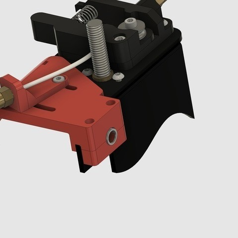 Free STL CR-10S Ultimate Z-Axes Cable Guide with Cold End Bowden Clamp V2, 3DED