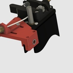 Download free STL CR-10S Ultimate Z-Axes Cable Guide with Cold End Bowden Clamp V2, 3DED
