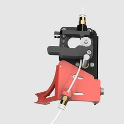 Download free STL CR-10S Ultimate Z-Axes Cable Guide with Cold End Bowden Clamp, 3DED
