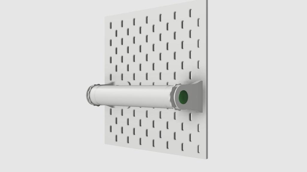 38faaa80b4b1b9ef8f065f94f6aab90d_display_large.jpg Télécharger fichier STL gratuit Porte-serviettes en papier GRAB et GO. (Pour montage mural ou sur panneau IKEA !) • Design imprimable en 3D, 3DED