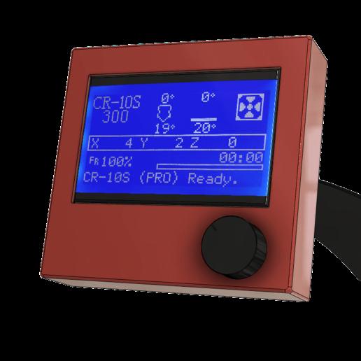 Cr10-S_Screen_pic_4_v3.png Télécharger fichier STL gratuit CR10(S) Support de tamis pour aluminium extrudé 20x20 ou 20x40 • Plan à imprimer en 3D, 3DED