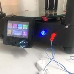 IMG_3353.jpg Download free STL file FLSUN QQ-(S) BigTreeTech TFT24-V1.1 or TFT35 V3.0 or TFT35 E3 V3 Screen mount • 3D printing object, 3DED