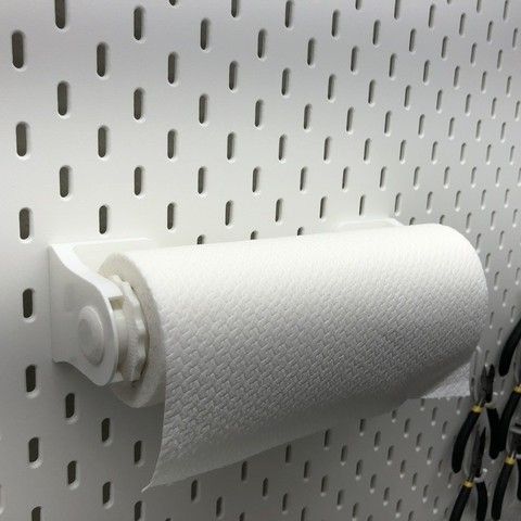 Grab And Go Paper Towel Holder For Wall Or Ikea Pegboard Mount