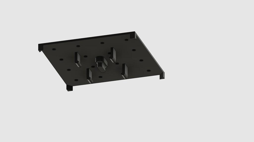 e2fe58cb4adf1c74e7d5d219de688eda_display_large.jpg Download free STL file Standard Pegboard to Ikea Skadis adapter board • 3D printing model, 3DED
