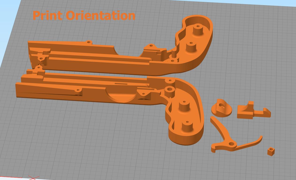Cap_Gun_print_orientation_v2.png Download free STL file Bottle Opener and Cap GUN! • 3D printable template, 3DED