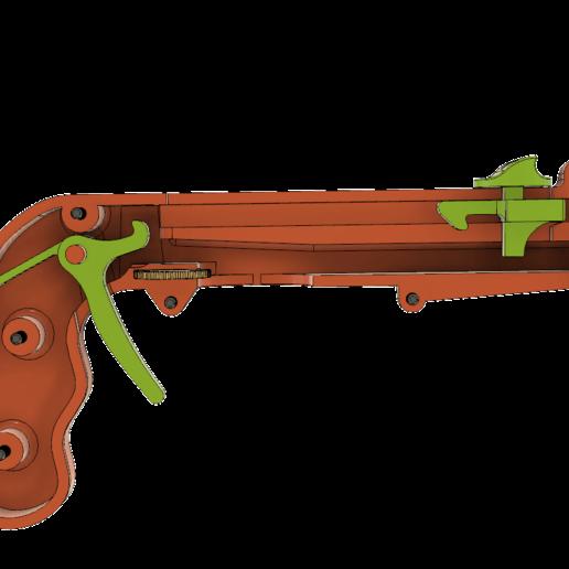Cap_Gun_working_v7.png Download free STL file Bottle Opener and Cap GUN! • 3D printable template, 3DED