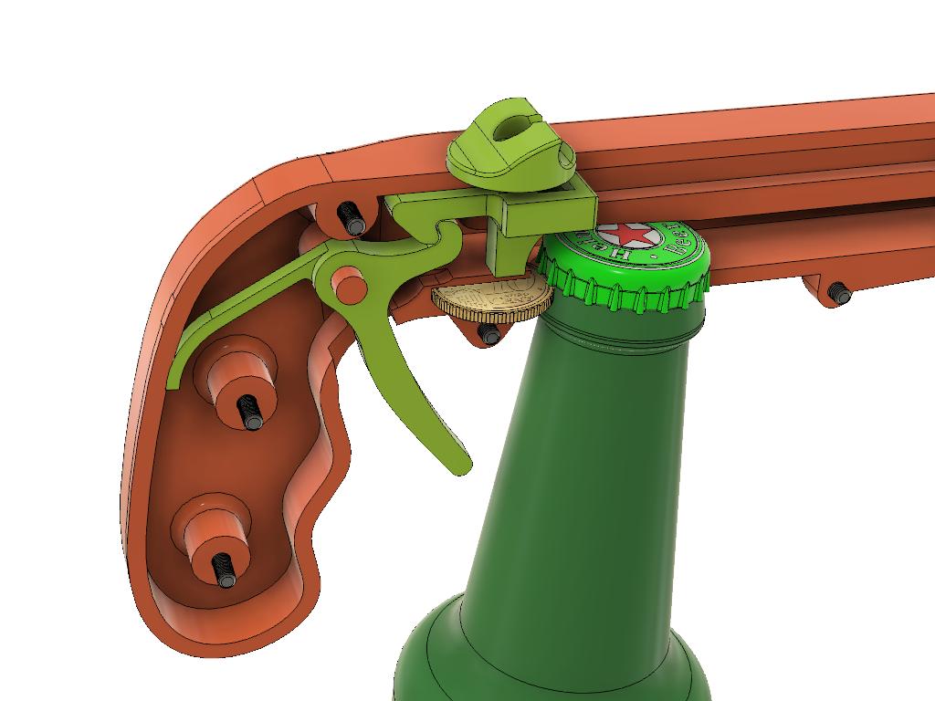 Cap_Gun_meganisme_2_v7.png Download free STL file Bottle Opener and Cap GUN! • 3D printable template, 3DED