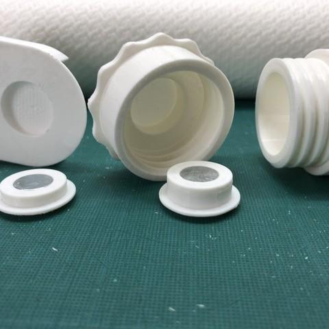 308b878de8e72f3408a641f35a037a16_display_large.JPG Télécharger fichier STL gratuit Porte-serviettes en papier GRAB et GO. (Pour montage mural ou sur panneau IKEA !) • Design imprimable en 3D, 3DED