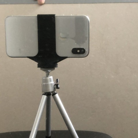 Free 3D print files Very Basic Horizontal Iphone X(S) Tripod mount, 3DED