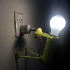 Télécharger modèle 3D gratuit Drôle de petite lumière, 3DED