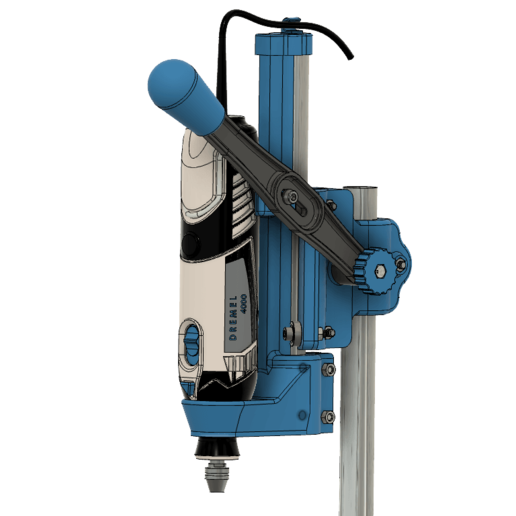 DREMEL_Drill_Press_close_up_main_assembly.png Download STL file DREMEL Drill Press (Very strong and precise) • 3D printing design, 3DED