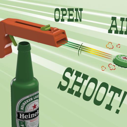 Télécharger fichier 3D gratuit Ouvre-bouteille et pistolet à bouchon !, 3DED