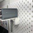 Free 3d printer model Heavy duty Swivel platform for Ikea Skadis, 3DED