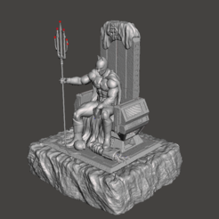 Download 3D print files Batman on Throne, Delucas
