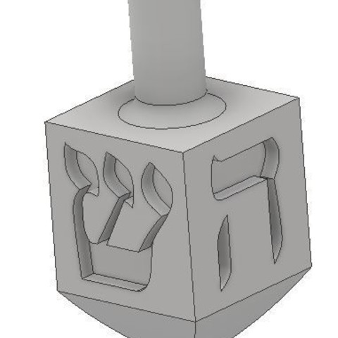 3D printer models Mini Non-Israeli Dreidel, dbish