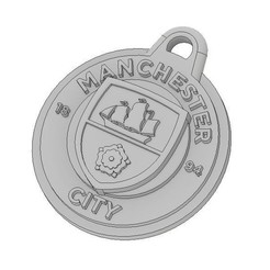 MCFC Iso.JPG Download free STL file Manchester City FC Keychain • 3D printable design, dbish