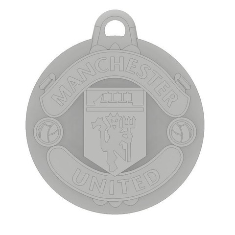 MUFC Top.JPG Download free STL file Manchester United FC Keychain • 3D printer object, dbish