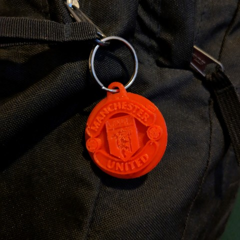 Download free 3D printing models Manchester United FC Keychain, dbish