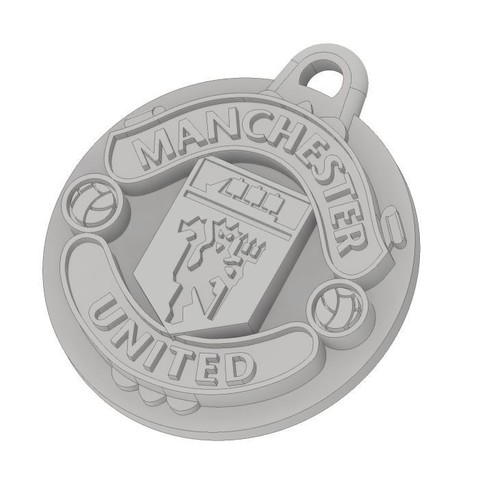MUFC Isometric.JPG Download free STL file Manchester United FC Keychain • 3D printer object, dbish