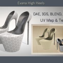 3D printer files Evana High Heels, Elenia