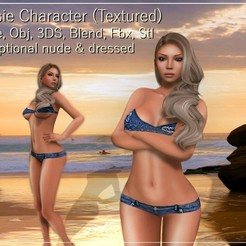 3D printer files Josie female character Low-poly 3D model, Elenia